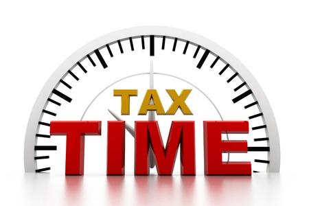 Tax Zeit  Standard-Bild - 25726514