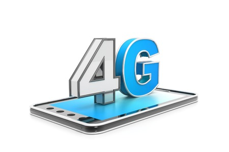 high speed: 4g high speed internet concept Stock Photo