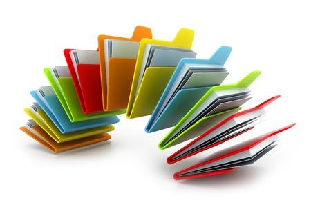 registros contables: carpeta con los documentos Foto de archivo