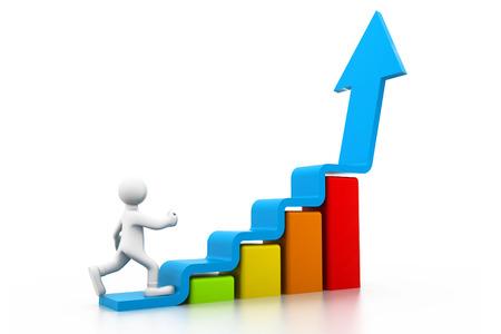 成長ビジネス グラフ 写真素材