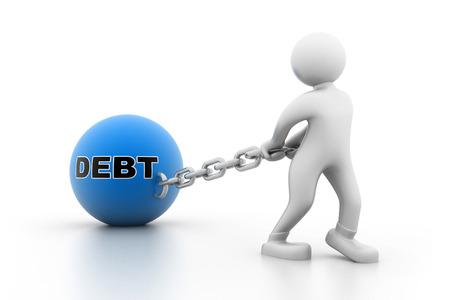 Man carrying debt photo
