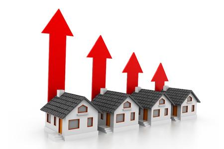increase diagram: Growing real estate chart Stock Photo