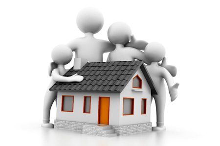 Home and family   Real Estate concept  Stock Photo