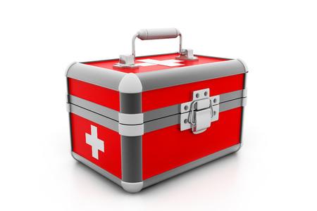 botiquin de primeros auxilios: Botiquín de primeros auxilios Moderno Foto de archivo