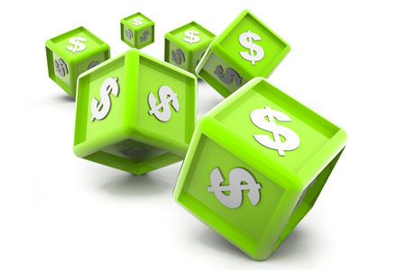 Dollar currency cubes photo