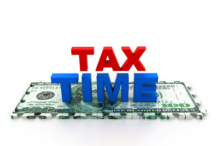 tax time: Tax time concept