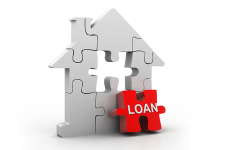 dividing: House loan Stock Photo