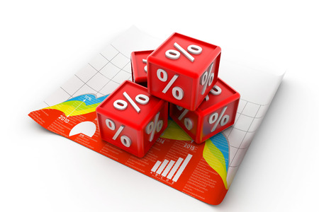 percentage cubes photo