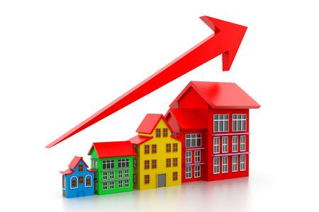 rise fall: Graph of housing market