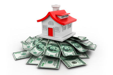 3d House with money photo