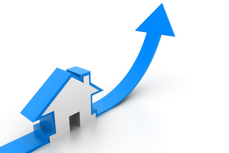 real estate growth: Growing home sale graph