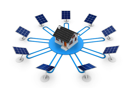 electricity supply: solar panel electricity supply to house