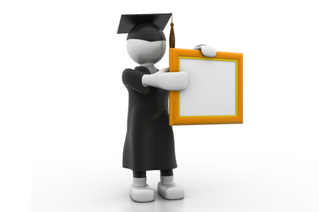 Graduation Student Holding a Blank board photo
