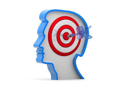 focus on the goal: Target on human head
