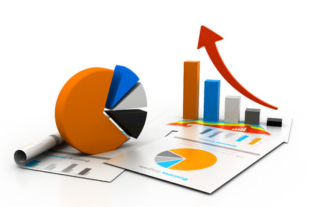 increment: Economical chart and graph Stock Photo
