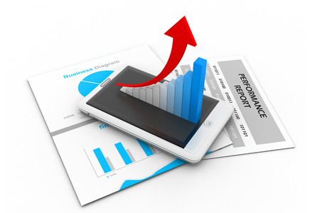 future growth: Business chart and graph Stock Photo