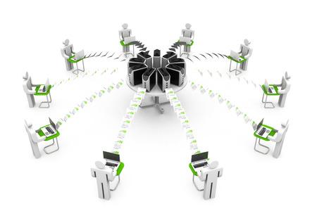 computer netzwerk: Computer-Netzwerk mit Datenfreigabe