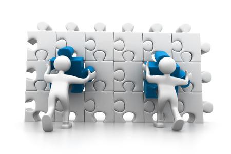 main idea: People arranging the important part