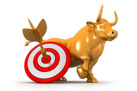 bearish business: Business bull and target