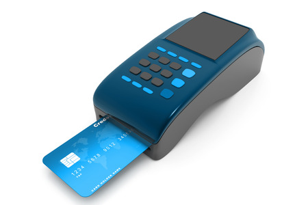 overdraft: credit card reader Stock Photo