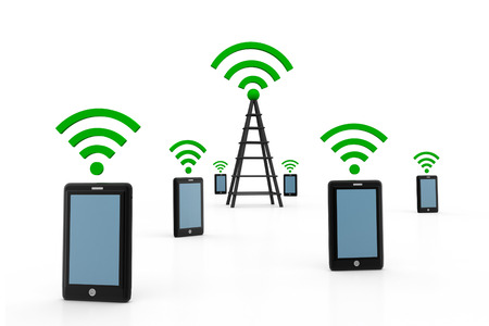 telecoms: Wireless communication concept
