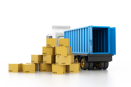 Cargo transportation concept photo