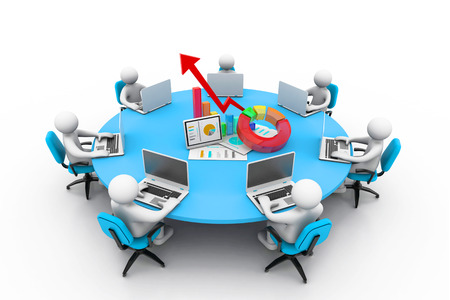 business people Working Together At office table photo