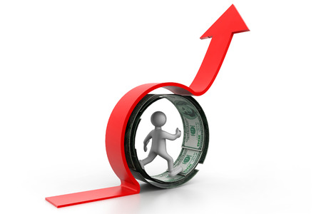 Financial growth concept  business success  photo
