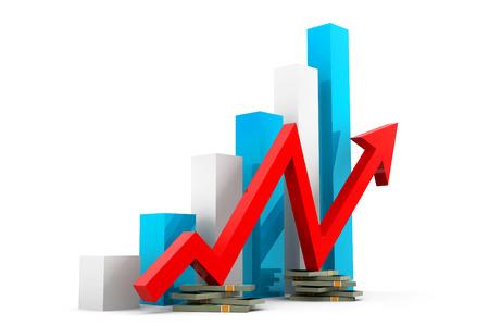 apalancamiento: Tabla de crecimiento financiero Foto de archivo