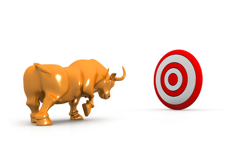 animal eyes: Business bull and target