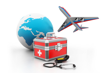 medical concept: Medical tourism Stock Photo