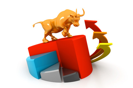 bullish: Economical business chart and bull
