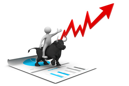 stock market chart: Economical stock market chart Stock Photo