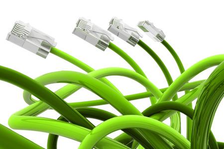 cable red: Cable de red de color verde