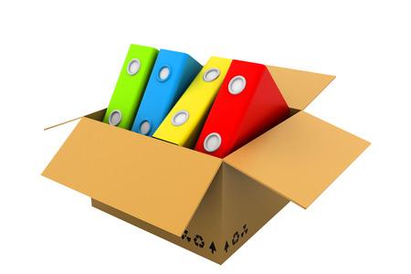 storage box: File folders on open box