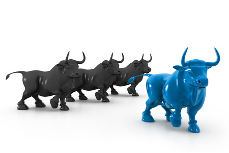 bearish business: Business bull  Stock Photo