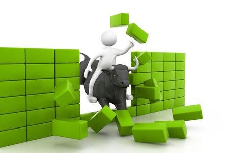 bullish: Bull market concept