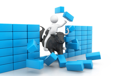 bearish business: Bull market concept