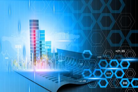 economical: Digital illustration of economical business graph