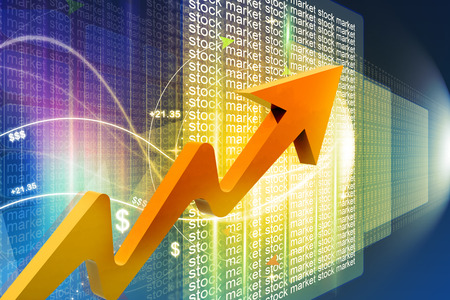 stock ticker: Economical Stock market graph Stock Photo