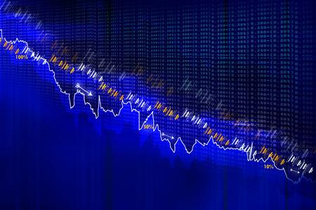 stock listing: Economical Stock market graph Stock Photo