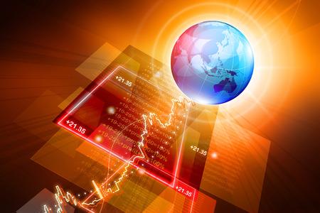 stock listing: global Stock market graph