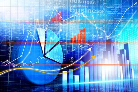 Conomique graphique du marché boursier Banque d'images - 30973581