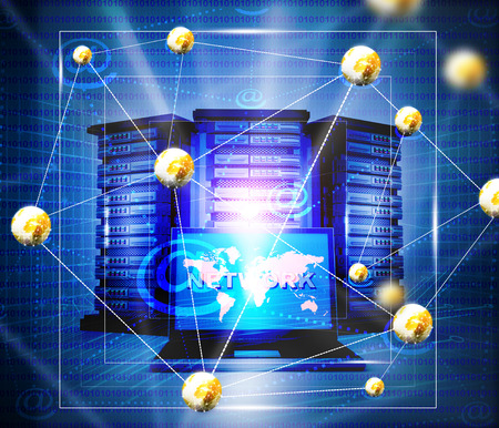 virtual server: Internet network background