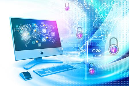 La sécurité sur Internet Banque d'images - 32622713