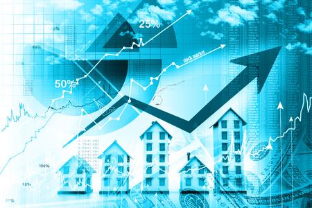 zakelijk: Grafiek van de woningmarkt