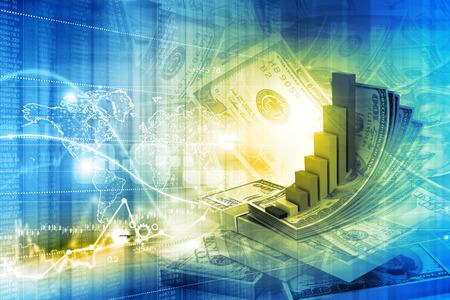 금융 성장 개념의 디지털 그림