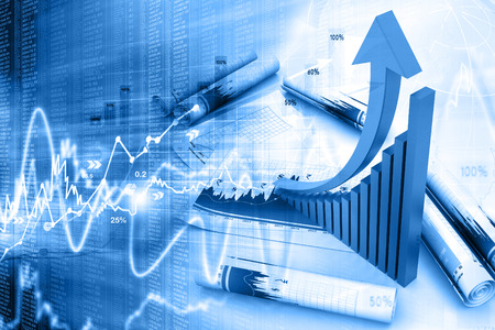 competition success: Business graph Stock Photo