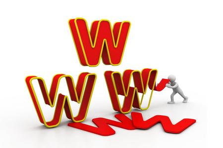 webhoster: World wide web under construction new concept