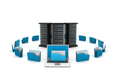 ftp servers: Server with folders.(data sharing concept)